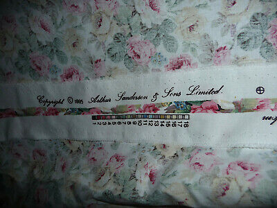 £64.99 • Buy Gorgeous Sanderson  Chelsea Pink Roses Pair Curtains Lined Vgc