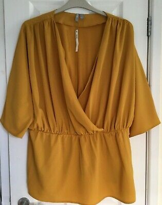 £2.50 • Buy Asos Curve Ladies Top Size Uk 20 Bnwt  Colour Gold/mustard 3/4 Sleeve