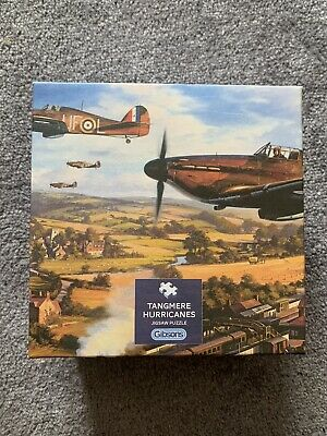 £6 • Buy GIBSONS 500 PIECE JIGSAW TANGMERE HURRICANES COMPLETE AMAZING Airplane RAF War