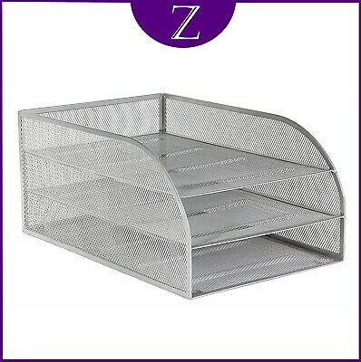 £19.95 • Buy Osco Mesh Letter Tray With 3 Trays In Silver