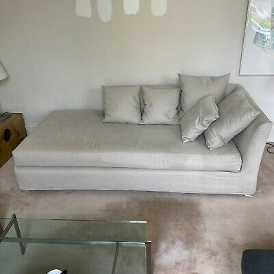 £150 • Buy Heals Daybed Sofa Right Hand Grey Pebble 1 To 3 Seater Chaise Lounge Designer