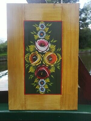 £20 • Buy Canalware Bargeware Narrowboat Handpainted Roses And Castles Canal Art Panel