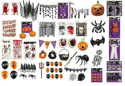 £2.49 • Buy HALLOWEEN DECORATIONS Skeleton Ghost Window Stickers Spooky Hanging Party Masks