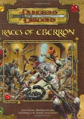 AU58 • Buy Races Of Eberron (Dungeons & Dragons D20 3.5 Fantasy Roleplaying Supplement)