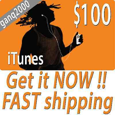 AU159.43 • Buy $100 APPLE US ITUNES CARD Gift Certificate FAST FREE Worldwide Shipping