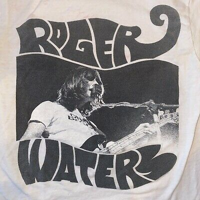 £10.95 • Buy Roger Waters - White Tultex Tour T-Shirt Size Small / (Pink Floyd) Wavy Letters