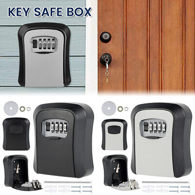 £9.99 • Buy 4 Digit Outdoor High Security Wall Mounted Key Safe Box Code Lock Storage Case