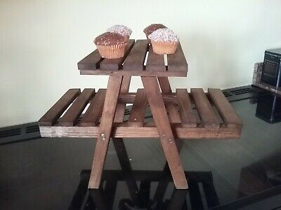 £15 • Buy Handmade Wooden Cupcake Stand/small Pots Herbs