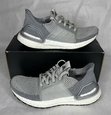 AU137.32 • Buy VNDS Adidas Ultraboost 19 Women's Size 7 Running Shoes Grey White EF8847