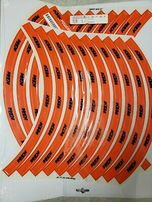£14.55 • Buy Factory Ktm Wheel Decals 18  Or 19  Rear Rim And 21  Front Rim Stickers Orange