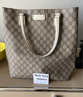 AU410 • Buy Gucci GG Vertical Tote Bag Including Postage