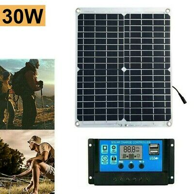 £26.26 • Buy 30W 12V Solar Panel Kit Battery Charger With 10A Controller Caravan Boat NEW