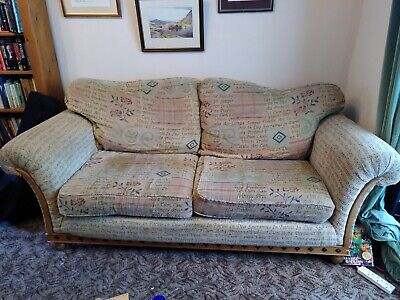 £30 • Buy Comfy Sofa, Well Made, Latin Script Patchwork Print Dark Academia Vibes. Open To