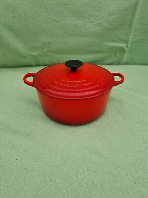 £25 • Buy Le Creuset Large 24 Cast Iron  Red Casserole Pot With Lid Dish