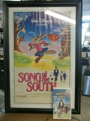 £163.99 • Buy Song Of The South Poster And Song Of The South VHS Tape
