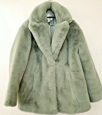 £29.50 • Buy Topshop Green Faux Fur Coat RRP £75 Brand New With Tags