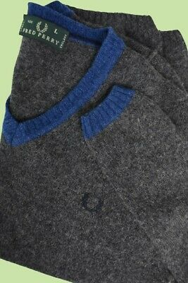 £0.99 • Buy FRED PERRY GREEN LABEL Men's Wool Blend Pullover Sweater Size LARGE