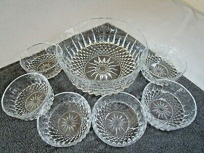 £14.95 • Buy Lovely Vintage Arcoroc France Large Trifle Bowl And 6 Matching Dessert Dishes