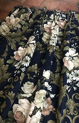 £1.04 • Buy Huge SANDERSON Curtains Cabbage Roses Floral EXTRA LONG Bespoke Pair 2 Of 2 VGC