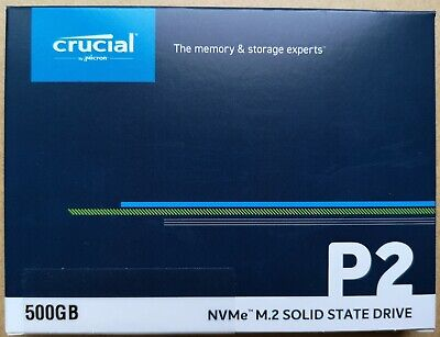 £48.99 • Buy NEW Crucial P2 500GB NVME M.2 2280 CT500P2SSD8 Internal Solid State Drive SSD