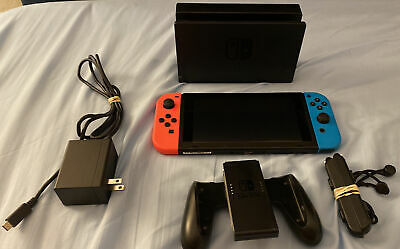 AU398.81 • Buy Nintendo Switch 32GB Console Bundle With Red And Blue Joy-Cons (HAC-001)