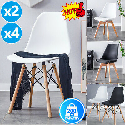 AU85 • Buy Dining Chairs Kitchen Chair Replica Leather Plastic Cafe Set Of 2/4