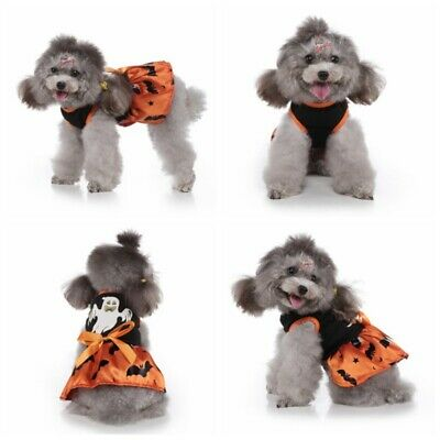£7.55 • Buy Dog Puppy Princess Dresses Party Halloween Costumes Pet Dress Cat Outfits Suit