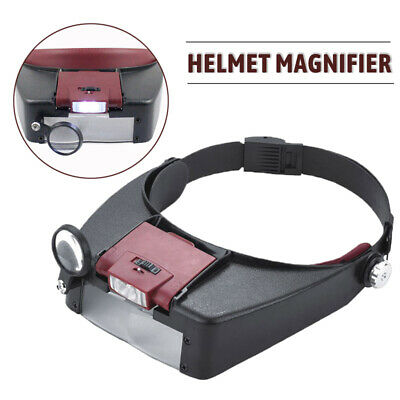 £6.63 • Buy 10X Magnifying Glass Headset LED Light Head Headband Magnifier Loupe With Box