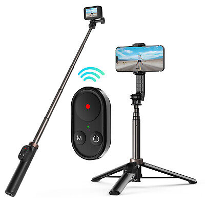 AU45.89 • Buy Bluetooth Remote Control Selfie Stick Tripod For GoPro 10/9/Max/ IOS/ Android