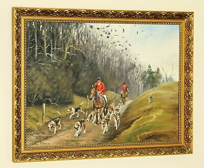 £245 • Buy BRIAN PORTEOUS (20th Century) Oil Painting Hunting Scene With Huntsman & Hounds