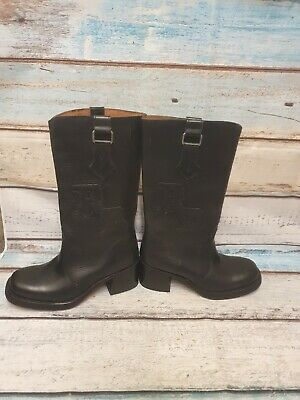 £32.99 • Buy Vintage Sancho Boots Genuine Leather Hand Made Biker Boots Punk