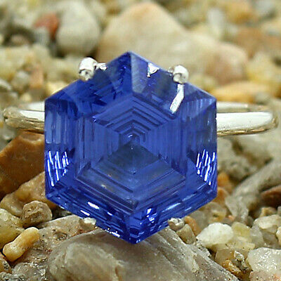 £12.46 • Buy Tanzanite Simulated 925 Sterling Silver Ring S.8 Jewelry E392