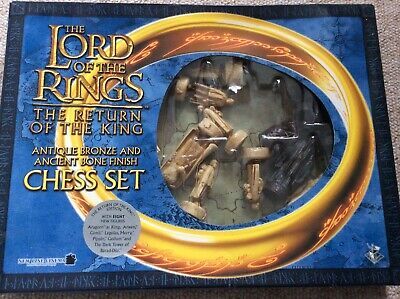 £40 • Buy Lord Of The Rings Chess Set - Return Of The King - Bronze And Bone Finish