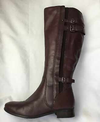 £14.99 • Buy Autograph Ladies Knee High Boots UK Size 6 EU 39 Burgundy Leather.
