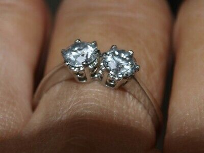 £1200 • Buy SOLID PLATINUM (950) Diamond Ring TOI Et MOI 1.15cts    With A BEAUTIFUL SPARKLE