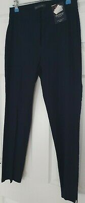 £7.50 • Buy Marks And Spencer Navy Blue Trousers Womens Size 6 With Stretch BNWT Rrp £35
