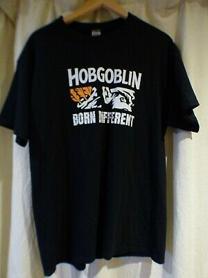 £12.49 • Buy Mans Gilden Hobgoblin Cotton Born Different T Shirt Size Large Black With White