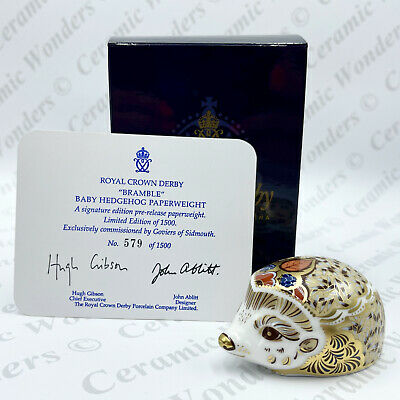 £65 • Buy Royal Crown Derby 'Bramble' Baby Hedgehog Paperweight (Boxed) Limited Edition