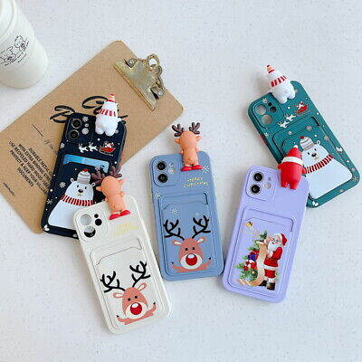 AU5.59 • Buy For IPhone 12 11 Pro Max XS XR 8 7 Plus Christmas Doll Card Slot Soft Case Cover