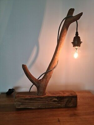£50 • Buy Driftwood Pieces Table Lamp, Handmade, Dimmable.