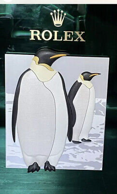 £995 • Buy Rolex By Roldeco Penguins Window Display Board Insert (Extremely Rare)