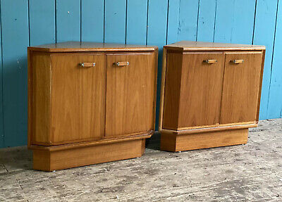 £49.99 • Buy Pair Of Turnidge Of London RETRO MID CENTURY Corner Bedside Tables DELIVERY*🚚