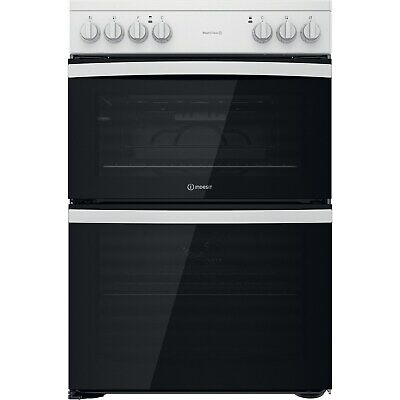£388.99 • Buy Indesit 60cm Double Oven Electric Cooker - White