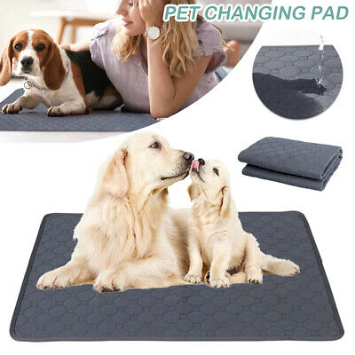 £9.99 • Buy Large Puppy Pet Training Pads Floor Pee Wee Toilet Mat Cat Dog Washable Reusable