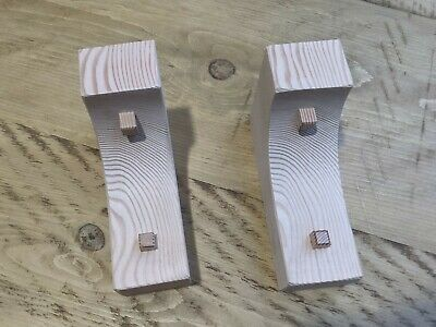 £25.50 • Buy Wooden Corbels (Shelf Brackets) Solid Pine Arched And Peg Style (1 Pair)