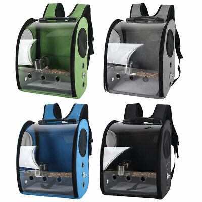 £35.99 • Buy Bird Backpack Clear Retractable Lightweight Travel Parrot Cage Space Capsule