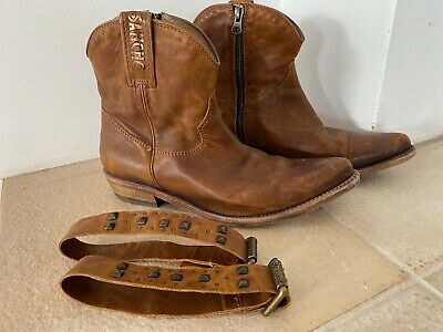 £69.99 • Buy Sancho Cowboy Boots Size 38 Fit 4.5 /5 Western Ankle Boots Boho Made In Spain