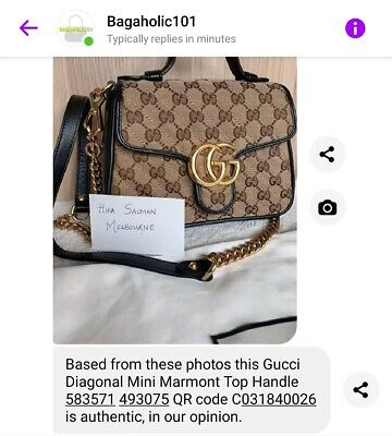 AU2050 • Buy Gucci Marmont Top Handle GG Canvas Excellent Condition With Full Set Authentic