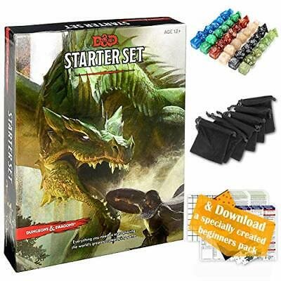 AU66.27 • Buy Dungeons And Dragons Starter Set 5th Edition - DND Starter Kit - Dice In Blac...