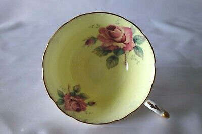 £40 • Buy Paragon China Tea Cup Yellow With Cabbage Rose Design Double Warrant – Good Cond